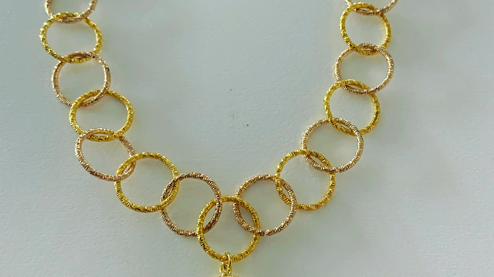 Gold Link Charm Necklace