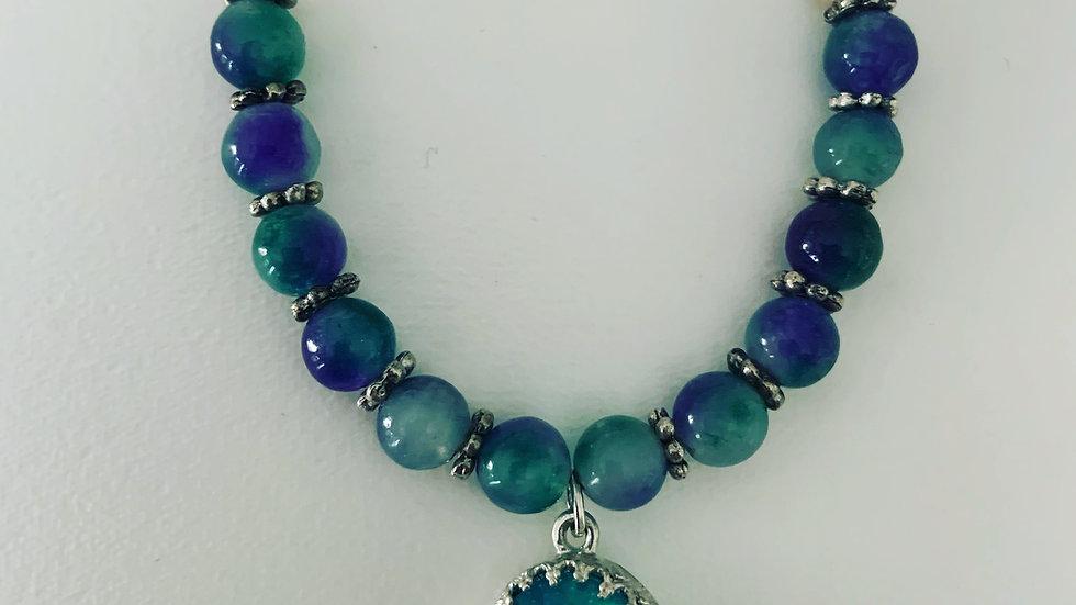 Blue-Green Swarovski Necklace