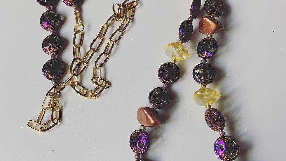 Purple Long Necklace