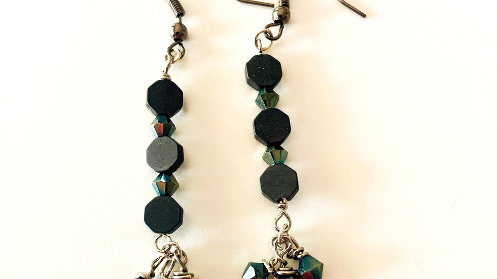 Black Slate Earrings