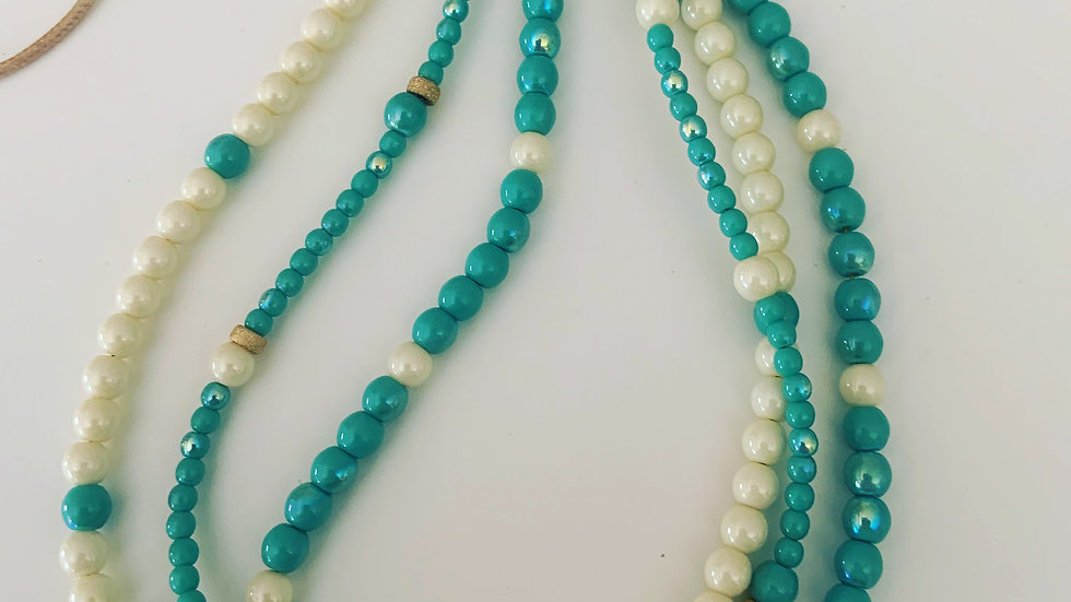 3 Stranded Turquoise Necklace