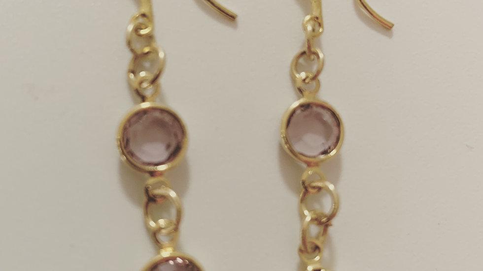 Light Amethyst Dangling Earrings