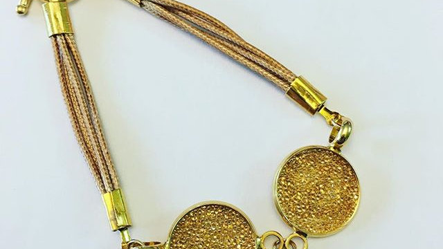Golden Swarovski Crystal Bracelet