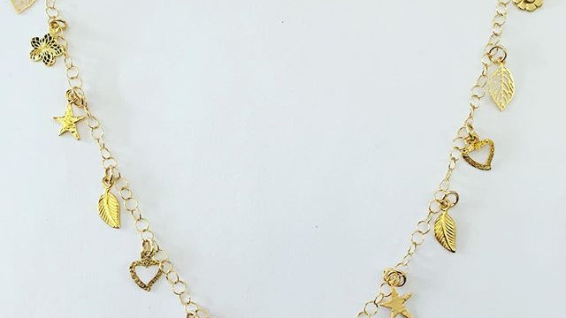 Gold Filled Charm Necklace