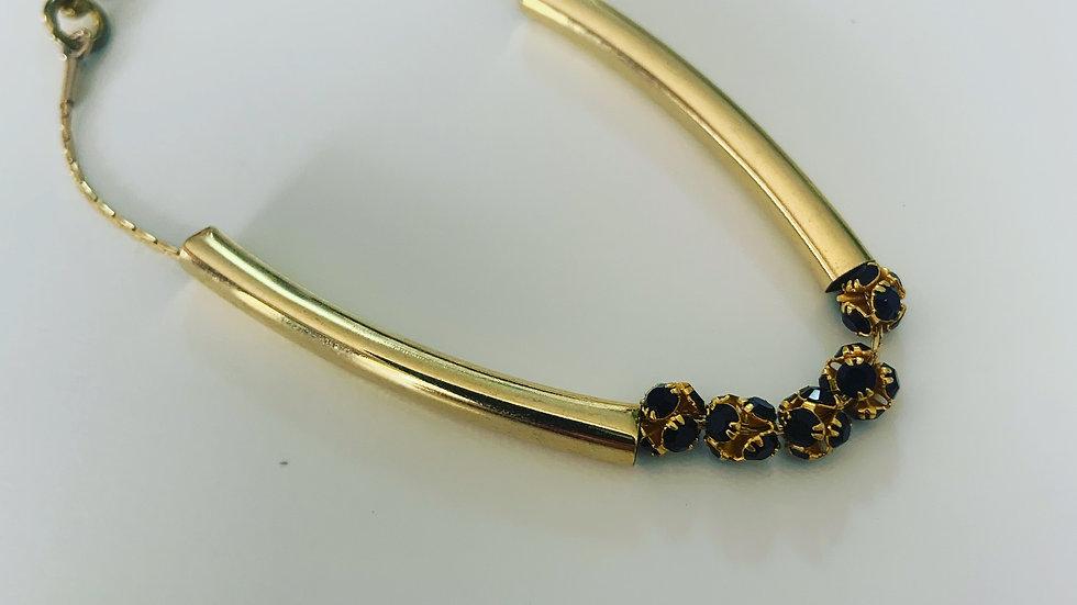 Black & Gold Plated Bracelet