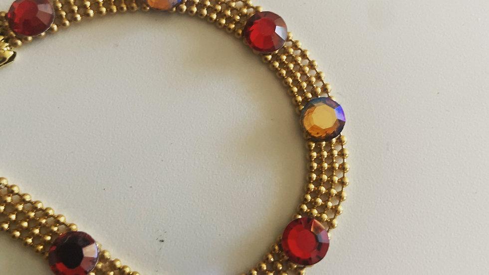 Gold Meshy Crystal Bracelet