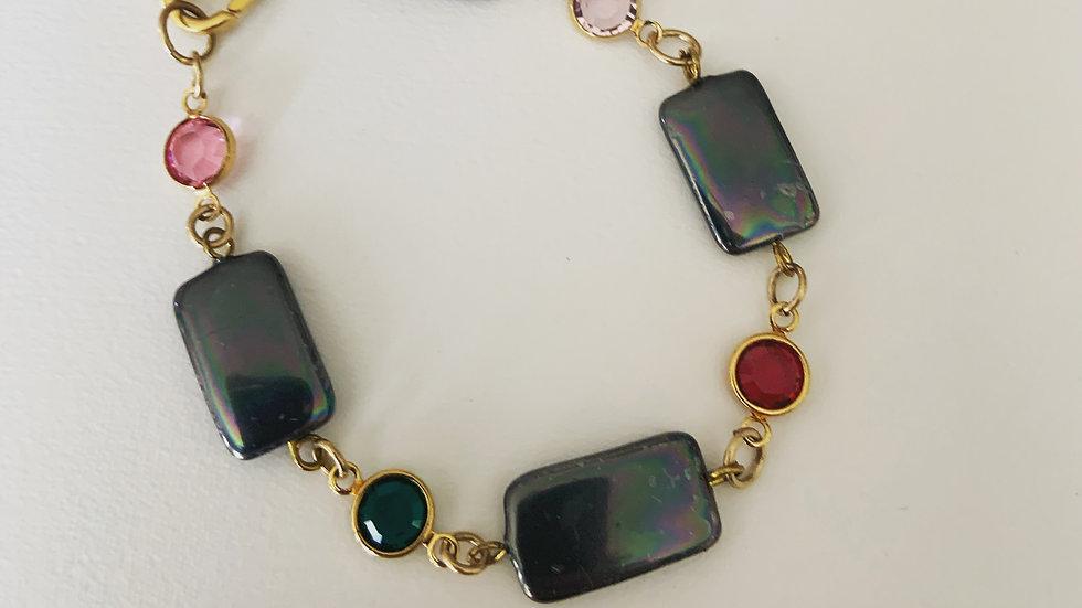 Black Slate Swarovski Bracelet