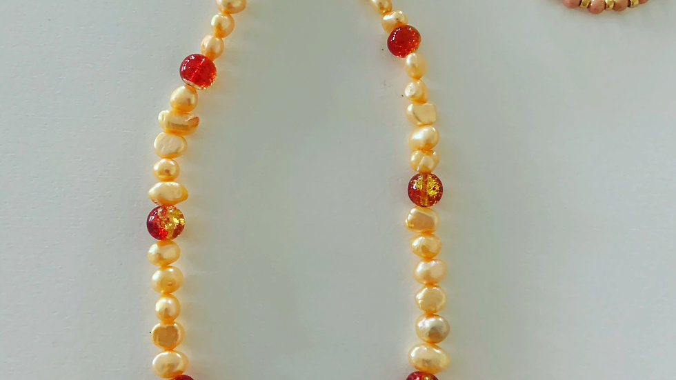 Light Coral Pearl Necklace