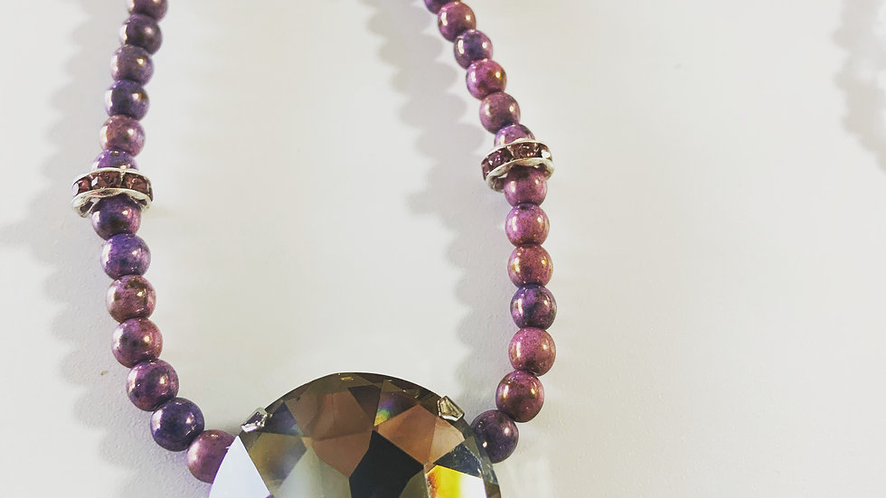 Lavendar Crystal Necklace