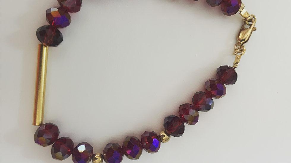 Red Czech Crystal Bracelet