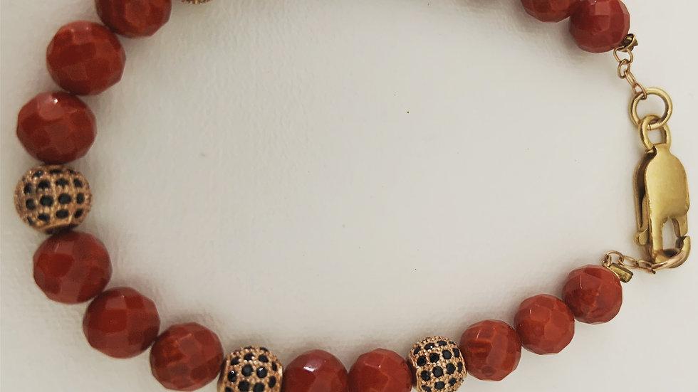 Golden Coral Bracelet