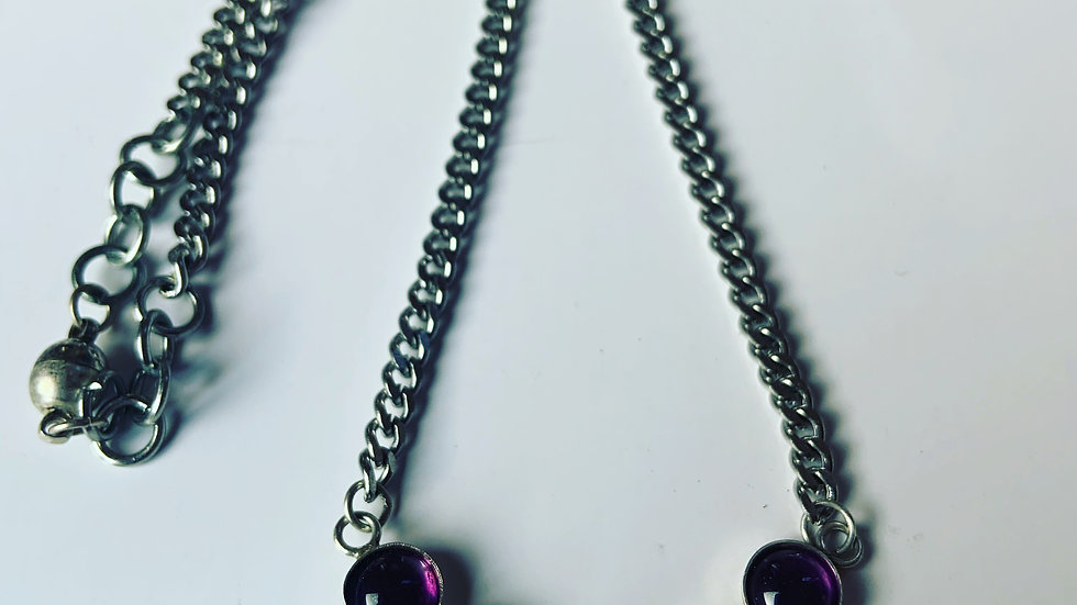 Heavy Metal Amethyst Necklace