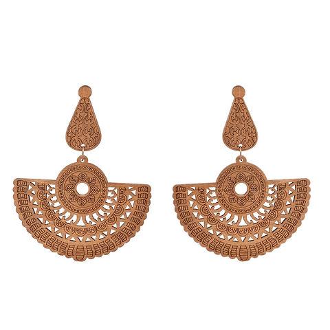 Agnaaya Contemporary Wood Earrings for W
