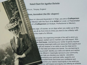 Natal Chart for Agatha Christie