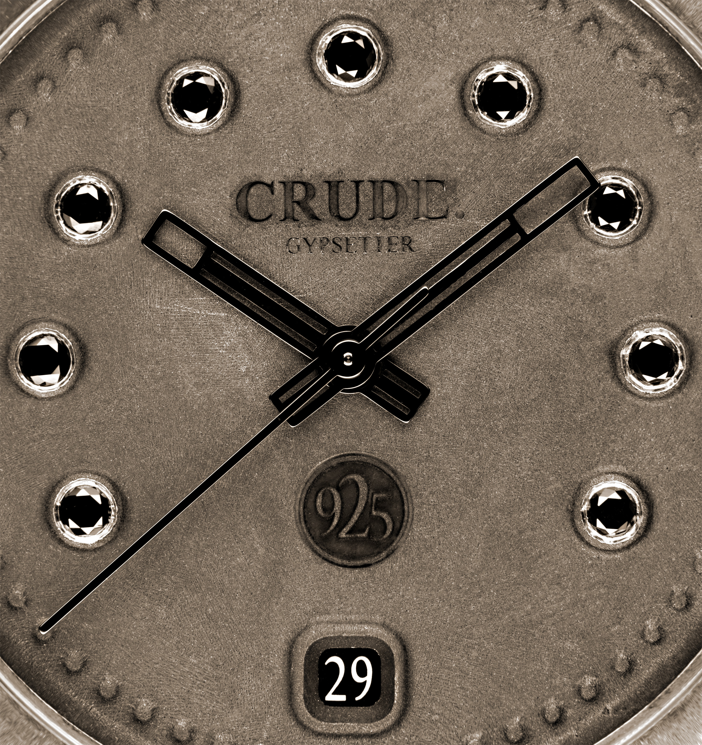 crude watch virgin raw black diamond