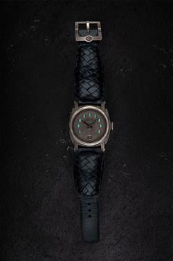 crude watch blue diamonds dial