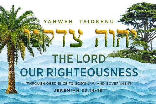 YAHWEH TSIDKENU