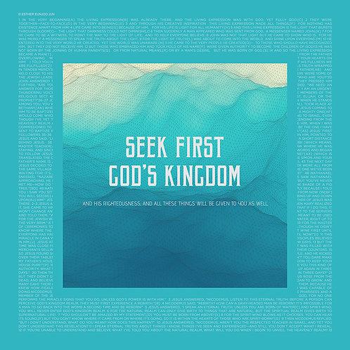 Seek first God's kingdom