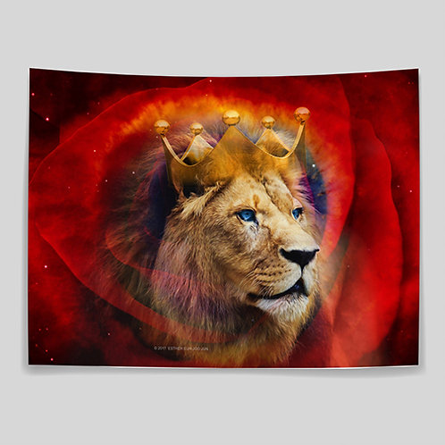 Lion with Rose - Large Banner