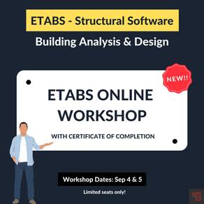 ETABS Online Workshop | Sep 4 & 5, 2021