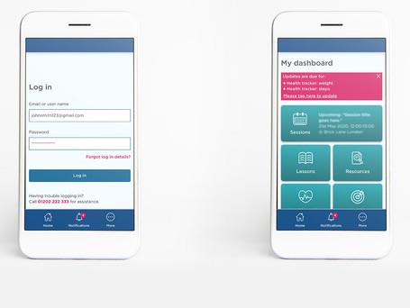 Wellbeing app design