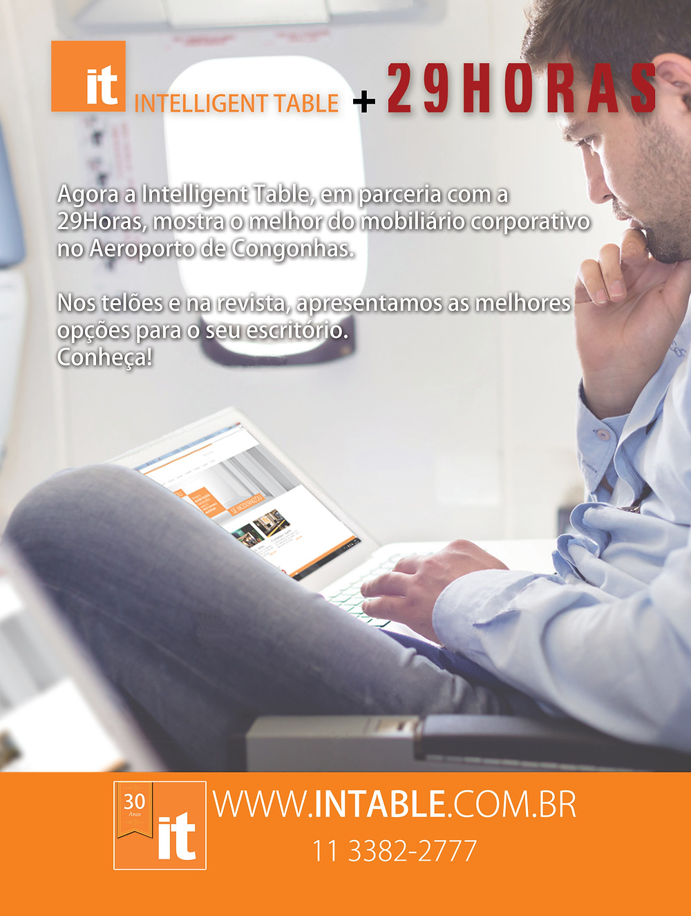 Anúncio de parceria para a revista 29HORAS.