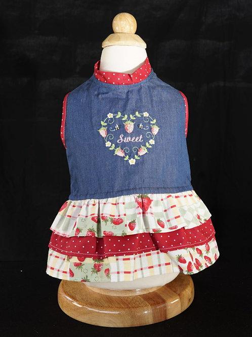 Sweet Strawberry Dog Dress