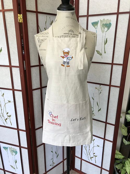 Child's Cooking Bear Apron