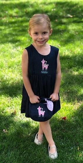 Girl's Denim Jumper and Matching PurseSet