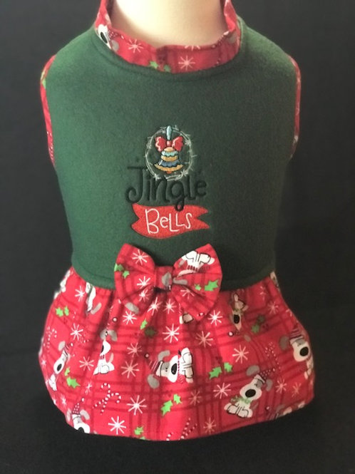 Jingle Bells Dog Dress or Shirt