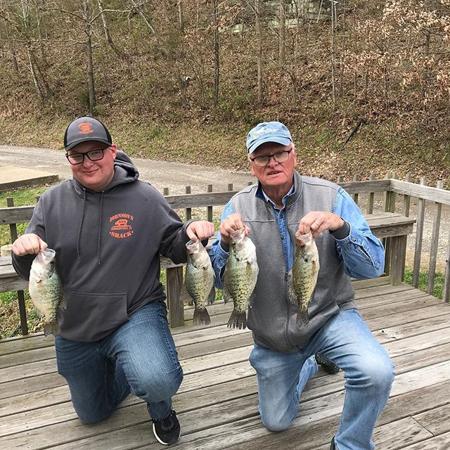 Josh and Mike caught a good mess today a