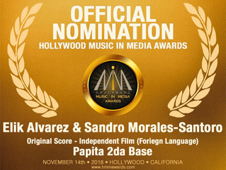 Sandro Morales-Santoro and Elik Alvarez are nominated for a Hollywood Music in Media Award.