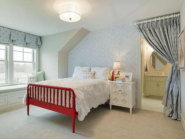 Painted and re-upholstered bedroom furniture
