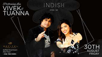 Vivek Nambiar Indian Singer and Tuanna Gurdal Turkish Singer