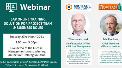 Live Webinar: SAP® Online Training Solution for Project Team & Business Roles