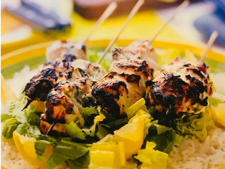 Kebabs with Lime & Herbs