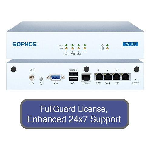 Sophos XG 105 Next-Gen Firewall TotalProtect Bundle with 4 GE ports, FullGuard L