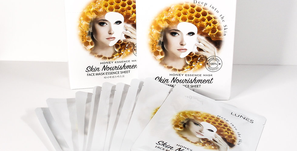 Lunes Face Mask Essence Sheet- HONEY 10 pack