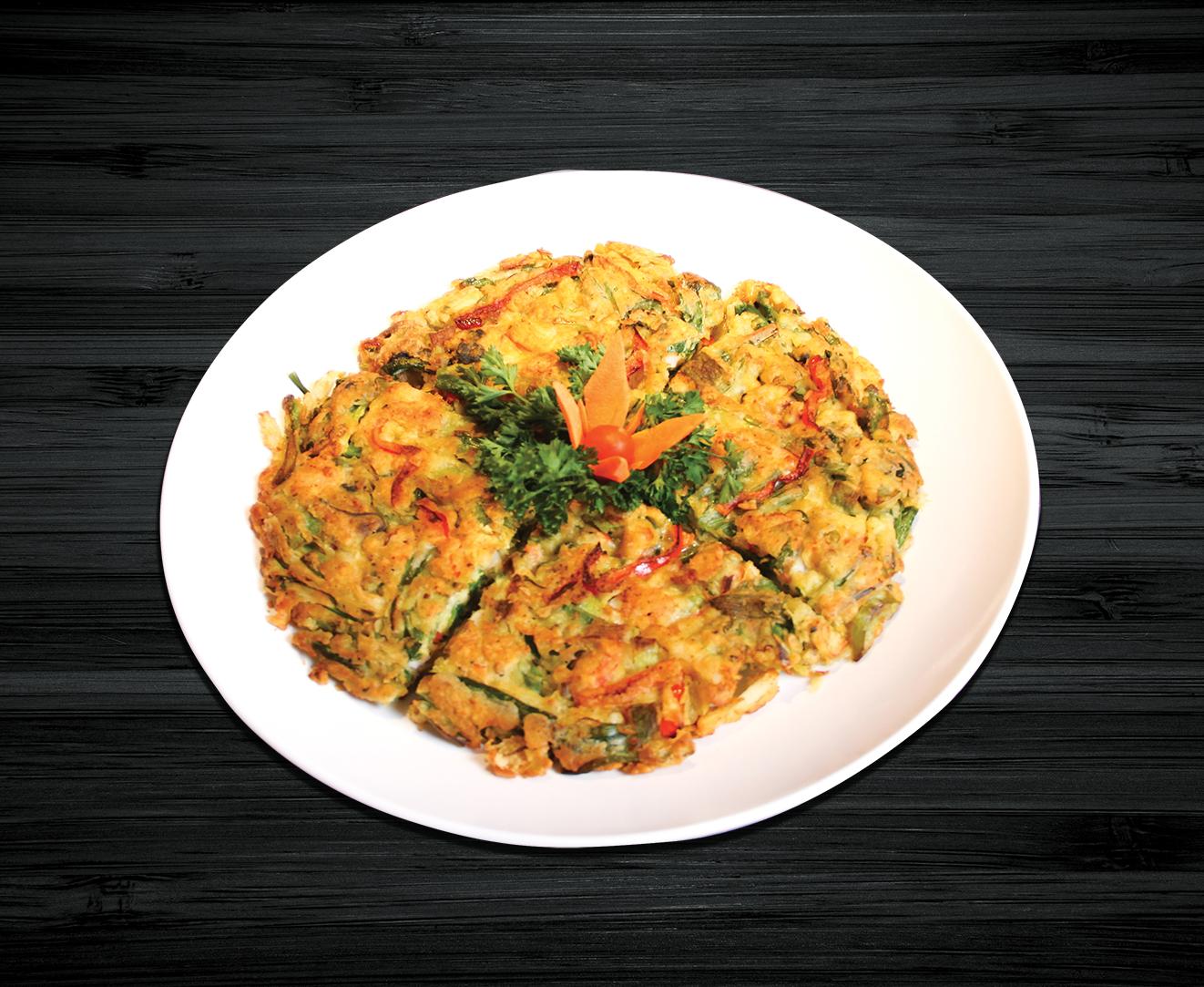 Seafood Pan Cake w/ Green Onion