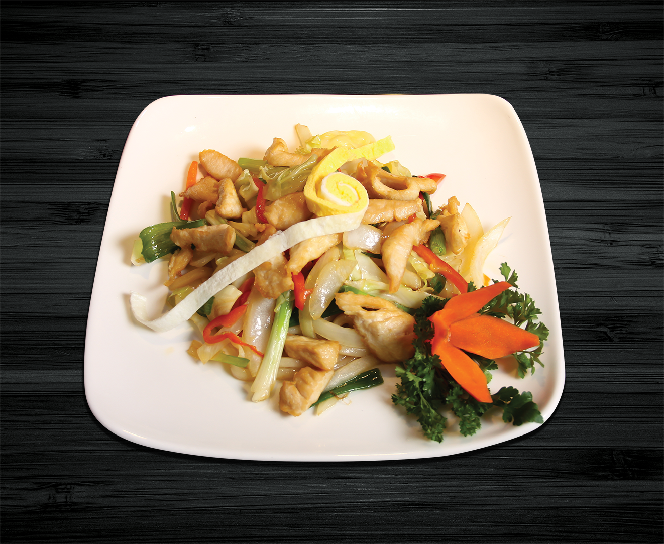 Stir-fried Udon with Chicken Breast