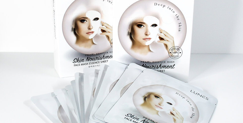 Lunes Face Mask Essence Sheet- PEARL 10 pack