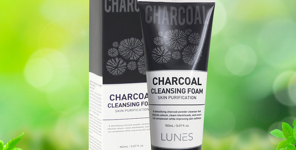 Lunes Charcoal Cleansing Foam 150ml