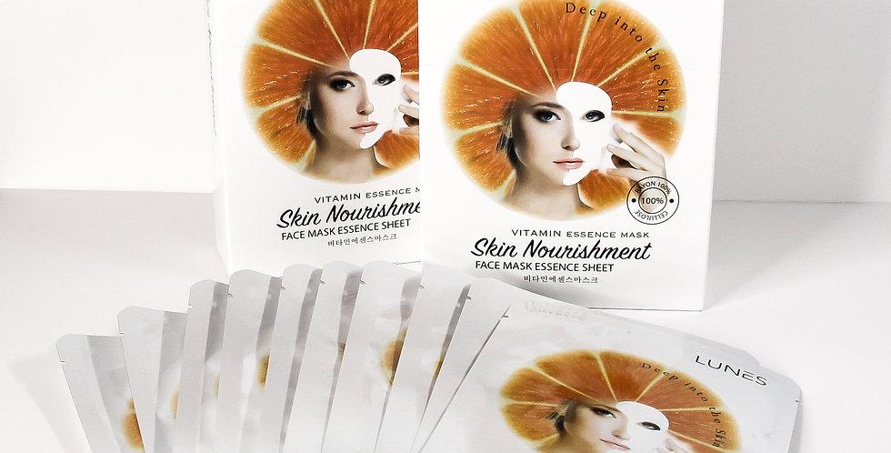 Lunes Face Mask Essence Sheet- VITAMIN 10 pack