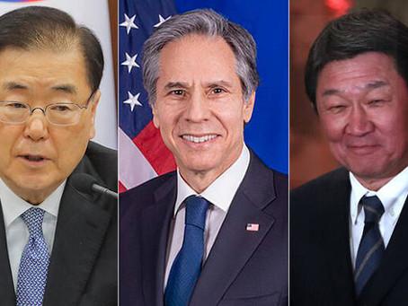 미국 중재 일본~한국 외교장관 20분 회담 성과없이 끝났다