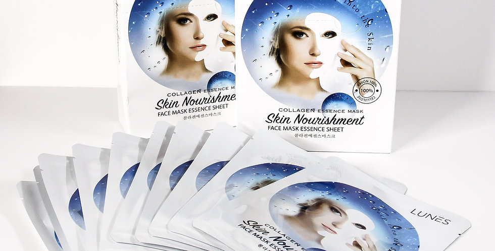 Lunes Face Mask Essence Sheet- COLLAGEN 10 pack