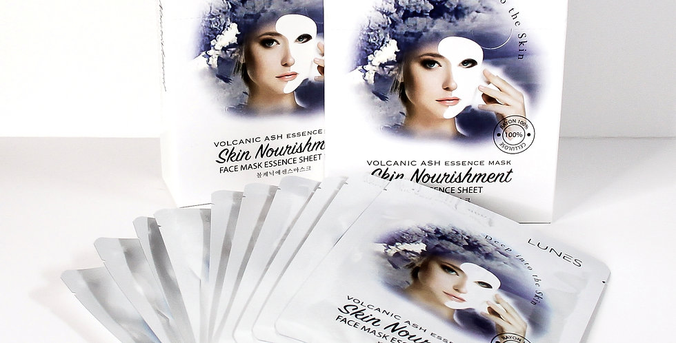 Lunes Face Mask Essence Sheet- VOLCANIC ASH 10 pack