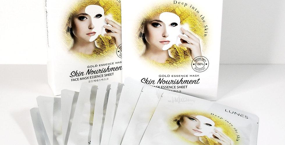 Lunes Face Mask Essence Sheet- GOLD 10 pack