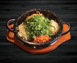 Kimchi Sizzling Stone Pot Bibimbop