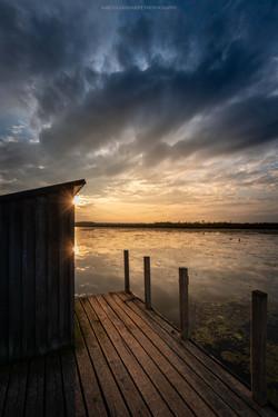 Sunset Federsee