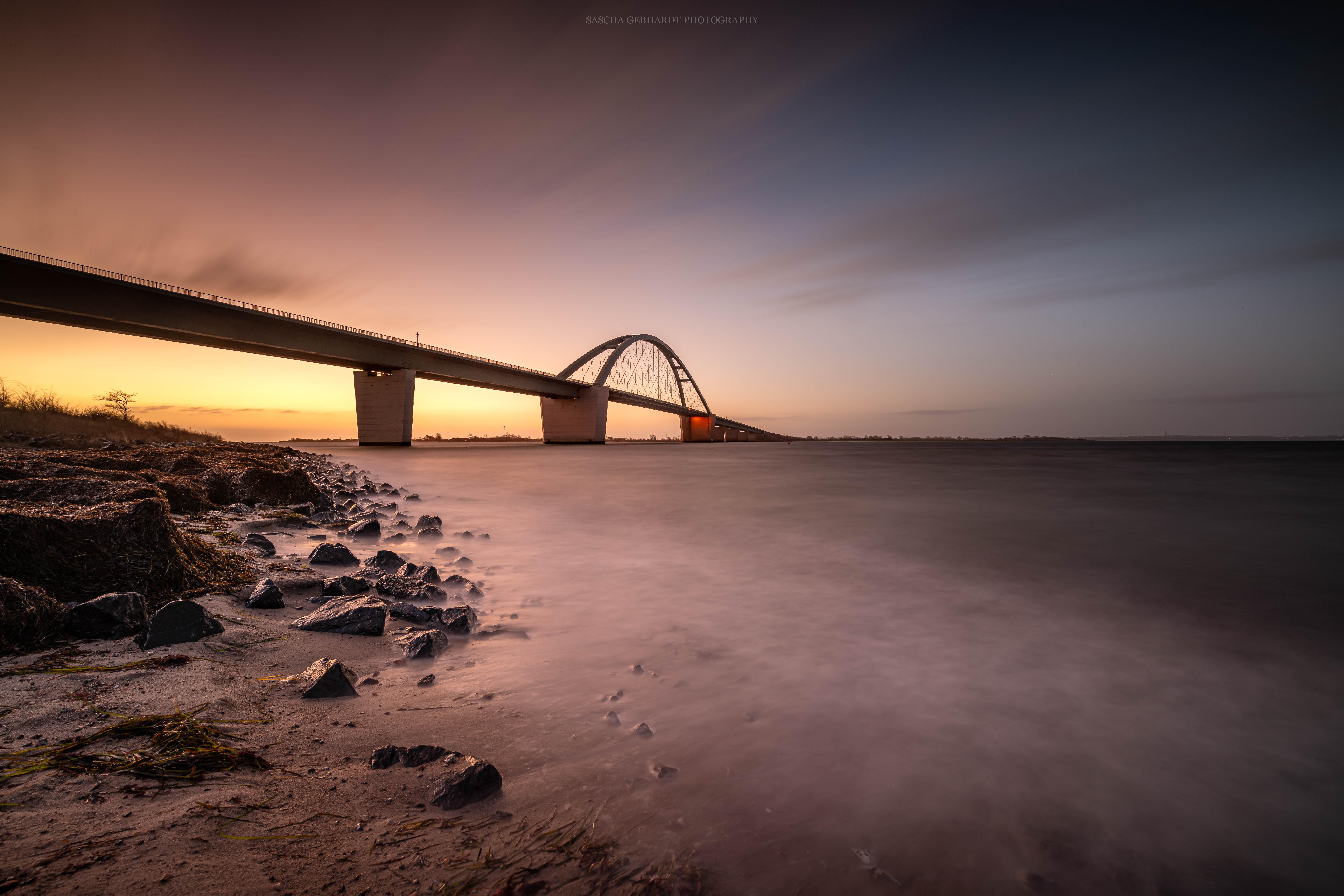 Fehmarnsundbrücke Sunrise